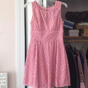 Dresses & Skirts - Bubblegum pink crochet lace dress